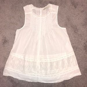 White Abercrombie and Fitch Top Size S